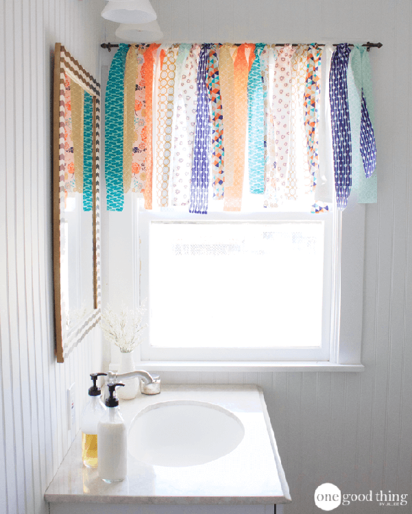 DIY Shabby Chic Window Valance
