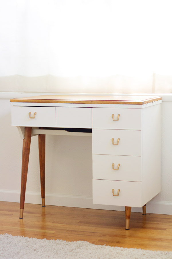 DIY Vanity from Vintage Sewing Table