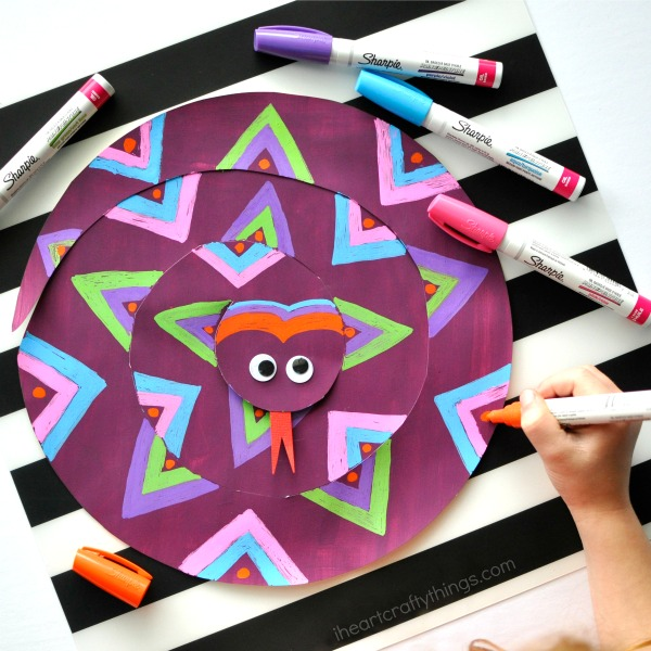 Painted Paper Snake Craft