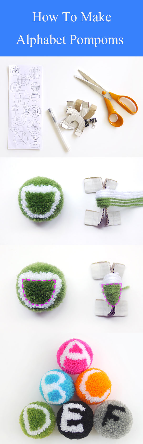 DIY Alphabet Pompoms