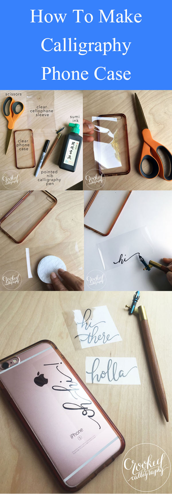 DIY Calligraphy Phone Case