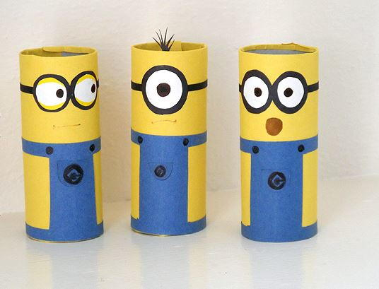 DIY Cardboard Tube Minion Crafts