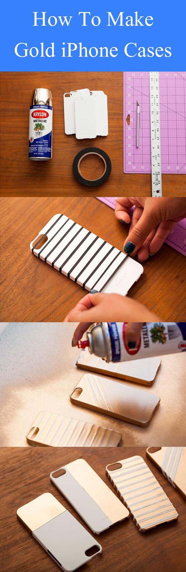 DIY Gold iPhone Cases