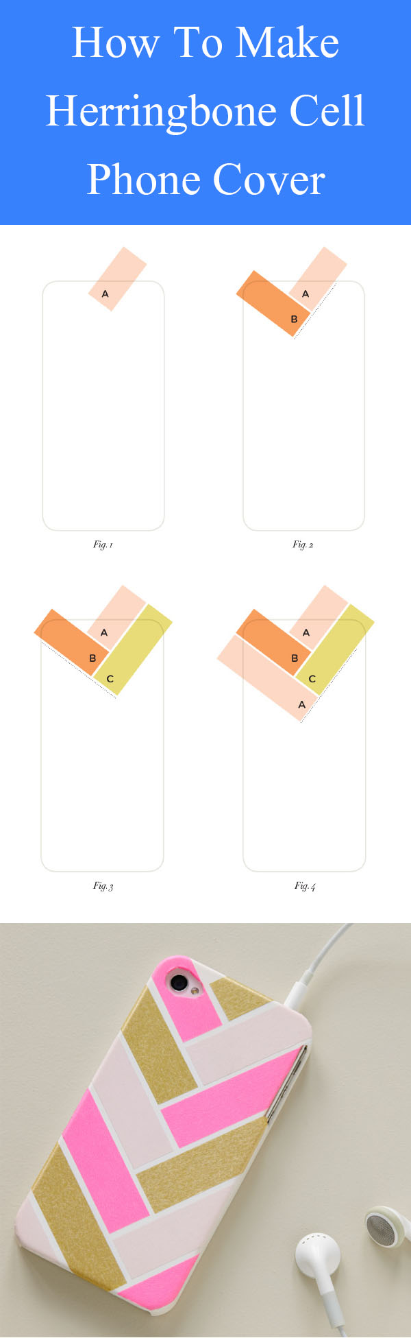 DIY Herringbone Cell Phone Cover