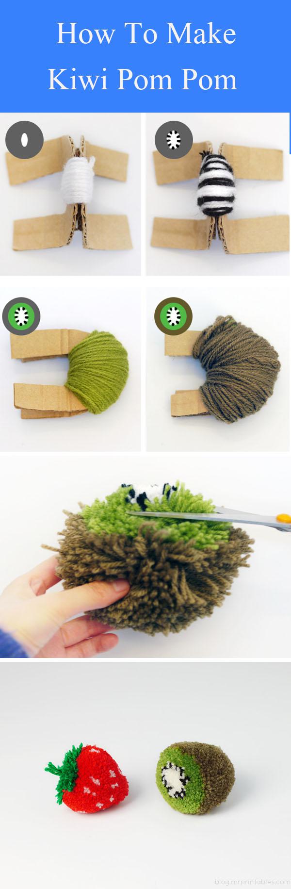 DIY Kiwi Pom Pom