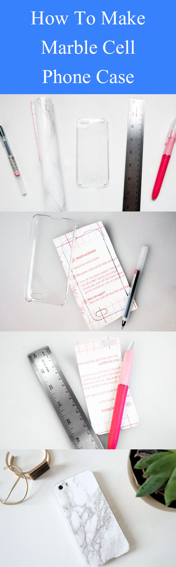 DIY Marble Cell Phone Case