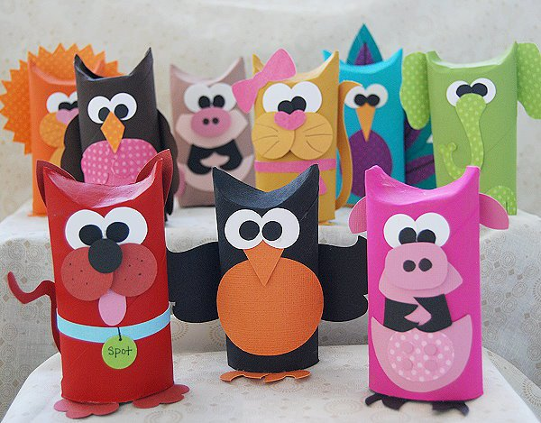 DIY Paper Tube Animals
