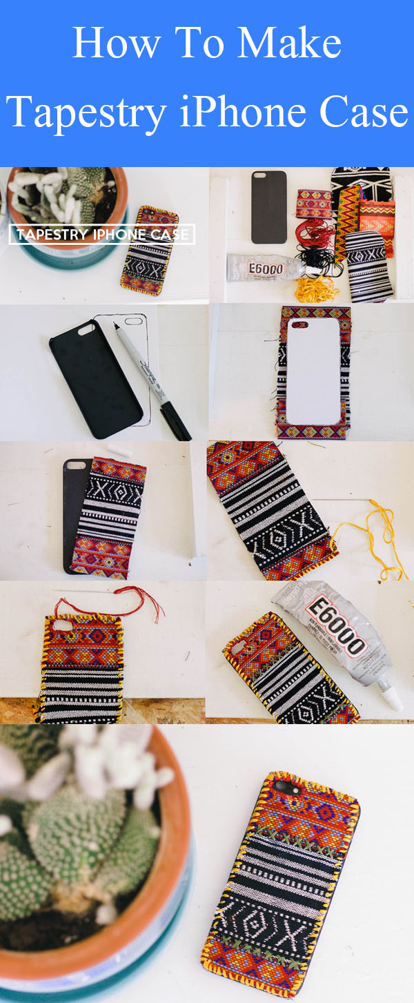 DIY Tapestry iPhone Case