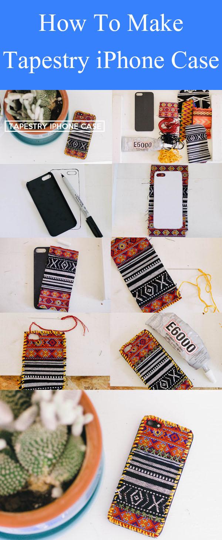 DIY Tapestry iPhone Case
