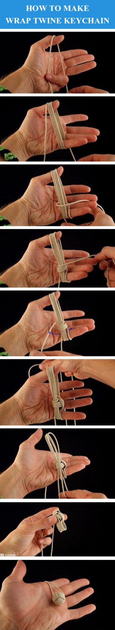 DIY Wrap Twine Keychain