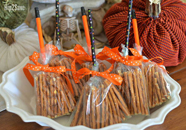 DIY Broomsticks From Pretzels