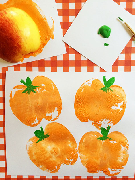 DIY Pumpkin Apple Stamps