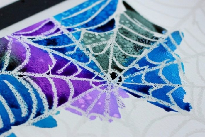 DIY Spider Web Art Project